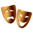 Happy sad theatre faces